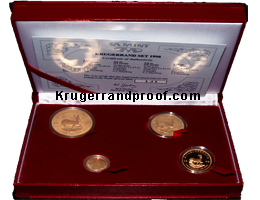 2001-proof Krugerrand set