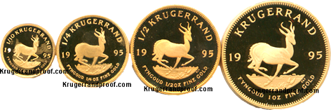 set of 1995 Proof Krugerrands